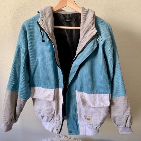 Zaful Jackets & Blazers - Hooded Corduroy Jacket